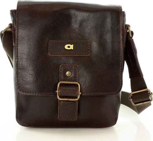 4916d21579 DAAG Pánska hnedá kožená taška JAZZY ORGANIC 4 (dg40c) - Glami.sk