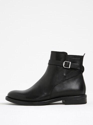 b8c758d0ad Čierne dámske kožené členkové topánky s prackou Vagabond Amina ...