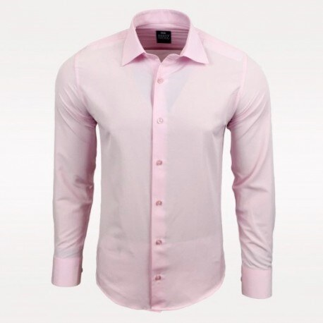 26648f877c6 Pánská košile s dlouhým rukávem Rusty Neal světle růžová Rusty Neal ...
