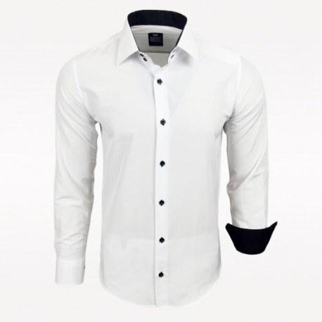 07531f9b293 Pánská košile Slim Fit s dlouhým rukávem Rusty Neal bílá Rusty Neal ...