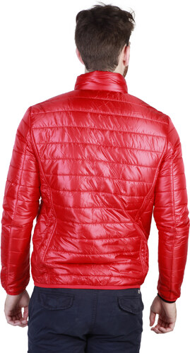Pánska bunda Napapijri lesklá - červená - Glami.sk e6d13816604