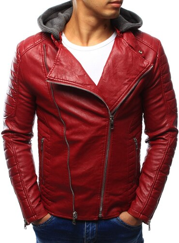 0c84ba3c39 Feltűnő piros bőr dzseki - Glami.hu