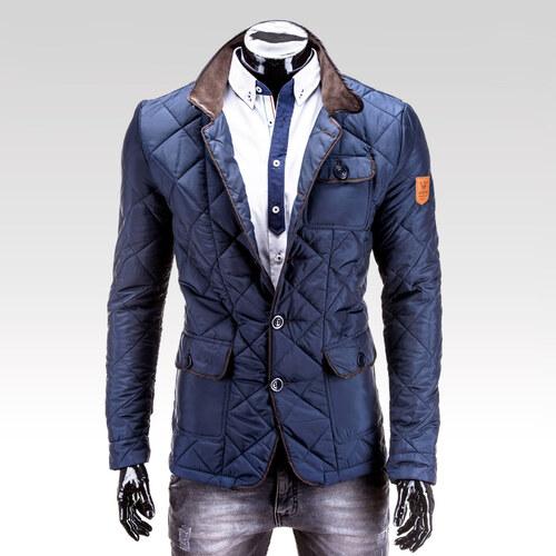 Ombre Clothing Pánský kabát Maximo tmavě modrý - Glami.cz 3e1b3df300
