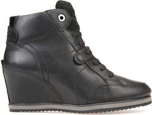8318f9d1410 GEOX Dámské elegantní kotníkové boty Illusion Black D4454A-043BC-C9999