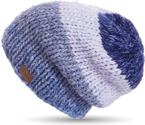 Modrá ručně háčkovaná čepice DOKE Denim - Glami.cz 1dee04fd9b