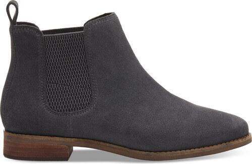 aa85c9bd0f Dámske sivé členkové topánky TOMS Ella - Glami.sk