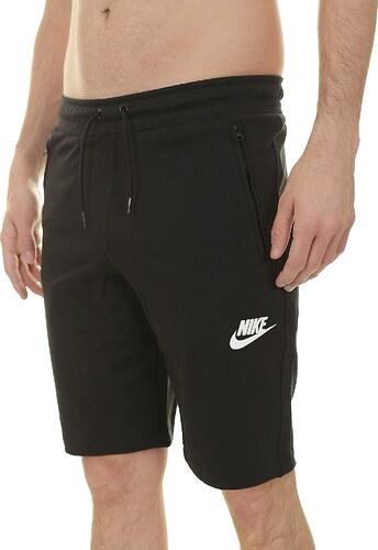 kraťasy Nike Sportswear AV15 Fleece - 010 Black Black Black White ... e3a9aff84b
