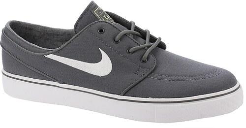 boty Nike SB Zoom Stefan Janoski Canvas - Dark Gray White Gum Light Brown 57c6218c61