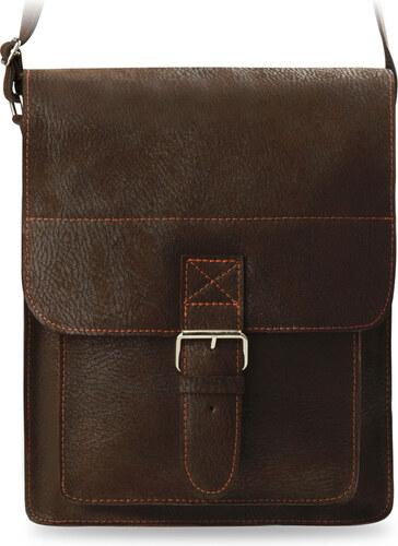 Kožená pánská taška listonoška přes rameno značky a-art hnědá - Glami.cz 8cc35f43212
