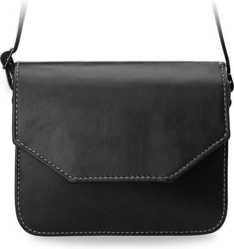 bace0da7f8c6 World-Style.cz Klasická listonoška s klopou zpevněná dámská kabelka černá