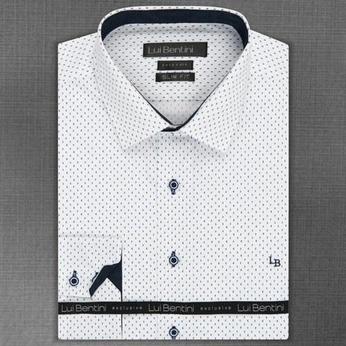 1b64bb4c679 Pánská košile Lui Bentini bílá vzorovaná LDS190