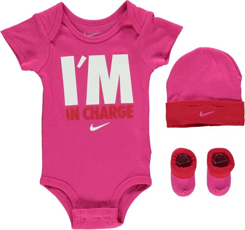 4875a21c242 Nike In Charge 3 Piece Infant Set Baby Vivid Pink - Glami.cz