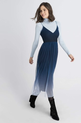 e8e805610c7a Orsay Midi bodkované šaty - Glami.sk