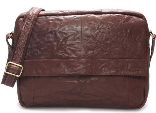 2723360186 -10% Veľká luxusná pánska kožená taška hnedá - SendiDesign Nethard hnedá