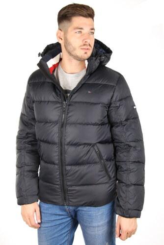 ec8ec8aedb Tommy Hilfiger pánská černá péřová zimní bunda Basic - Glami.sk