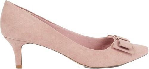 7a2703c02a NEW LOOK Nízke lodičky v ružovom koženom dizajne - Glami.sk