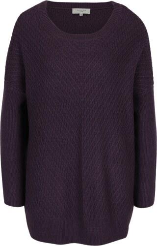 99d4b5bc991e Fialový dlhý vlnený sveter Selected Femme Rille - Glami.sk