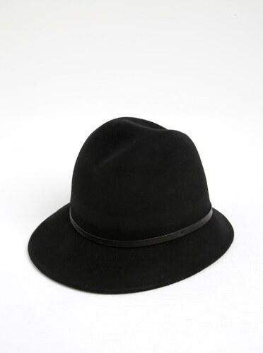 5ae76c9a8b5 Černý vlněný klobouk s ozdobným páskem ONLY Penelope - Glami.cz