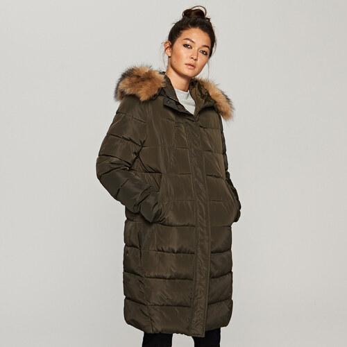 Reserved - Steppelt kabát szőrmés kapucnival - Zöld - Glami.hu b6ca4bafe0