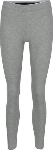 171935c27e52 Sivé dámske melírované športové legíny s potlačou Nike Sportswear Logo Club