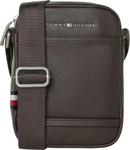 5a183e78ed Tommy Hilfiger tmavo hnedá pánska taška City Mini Reporter - Glami.sk