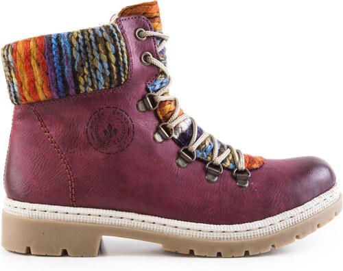 Rieker - Dámské kotníkové zateplené boty s pleteninou ee921a4d90