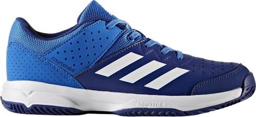-17% Dětská sálová obuv adidas Performance COURT STABIL JR  BLUE FTWWHT MYSINK 5005b72592
