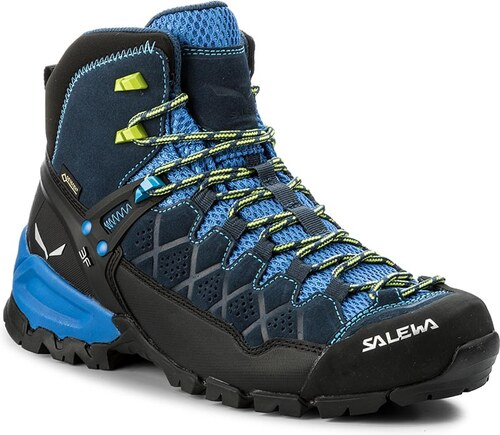 a9673ec436c Trekingová obuv SALEWA - Alp Trainer Mid Gtx GORE-TEX 63432-0361 Dark  Denim Cactus 0361
