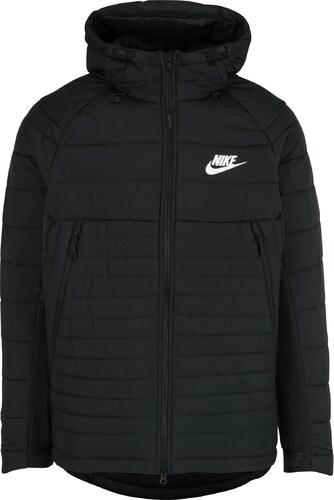 Čierna pánska zimná prešívaná bunda s kapucňou Nike Sportswear Fill ... 59302f19b89
