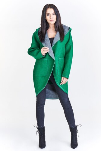 Asymetrický kabát na ozdobné knoflíky FICCARELLI - Glami.cz c932f5b3c4c