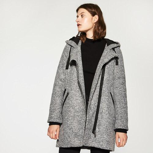 House - Krátky kabát s kapucňou - Šedá - Glami.sk 02117ef17d9