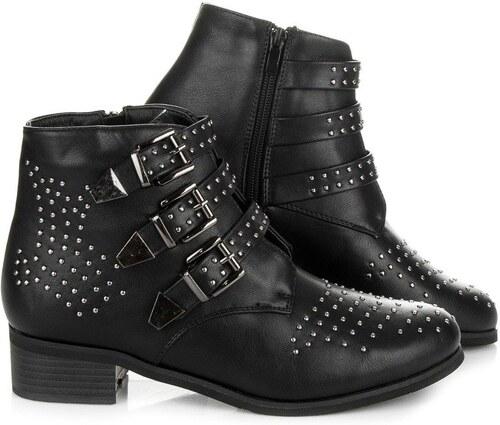 Coco Perla Čierne topánky s prackami 1926B - Glami.sk afa837a3d34