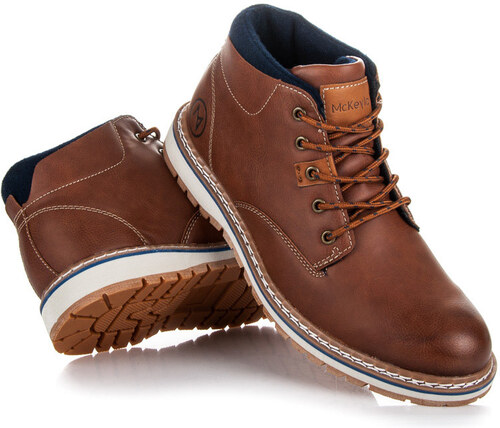 821d1fa318 McKeylor Luxusné hnedé pánske členkové topánky - Glami.sk