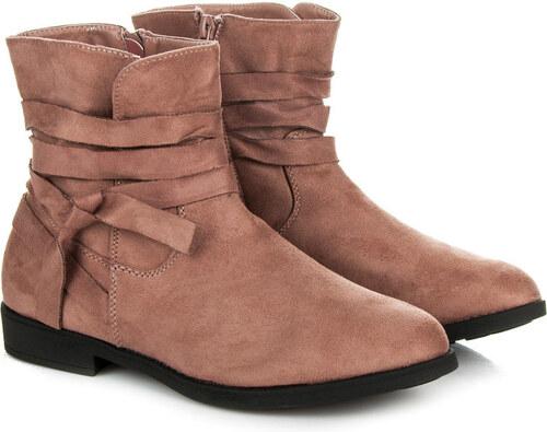 SEASTAR Dokonalé ružové členkové topánky na nízkom podpätku - Glami.sk c2d76d433c9