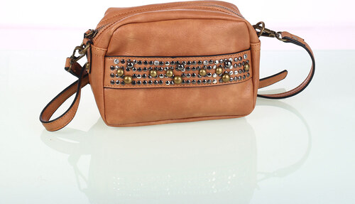 Dámska kabelka cez rameno z eko kože Kbas s ozdobným vybíjaním hnedá ... 530433be24a