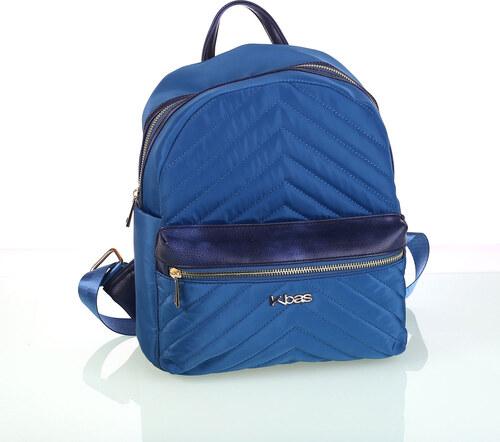 612b3c55eb Dámsky batoh z nylónu s prešívaním a predným zipsom Kbas modrý ...