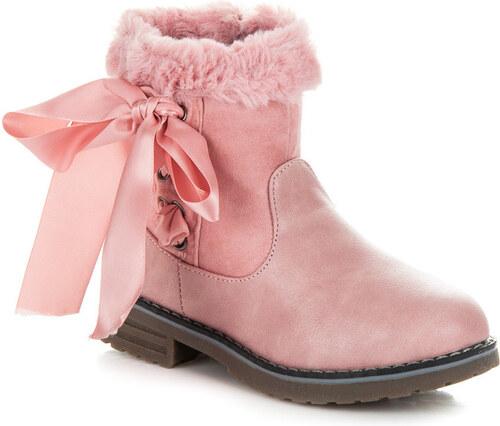 CNB Suprové ružové detské zimné čižmy s kožušinkou - Glami.sk 6cd089de272