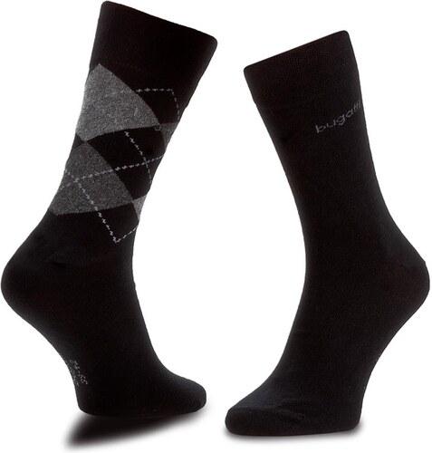 Sada 2 párů pánských vysokých ponožek BUGATTI - 6776C Black 610 ... 3999bc5ccc