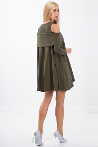 ed1f39455983 Fasardi Voľné šaty s dlhým rukávom a odhalenými ramenami