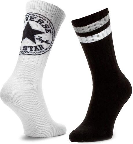Két pár hosszú szárú férfi zokni CONVERSE - E556A2010 Fehér Fekete ... 4afba8b377