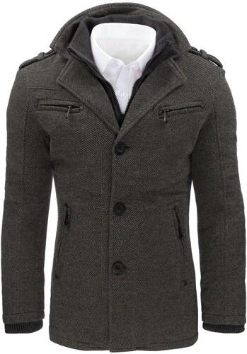 Jedinečný pánsky kabát šedý - Glami.sk 227292c12b6