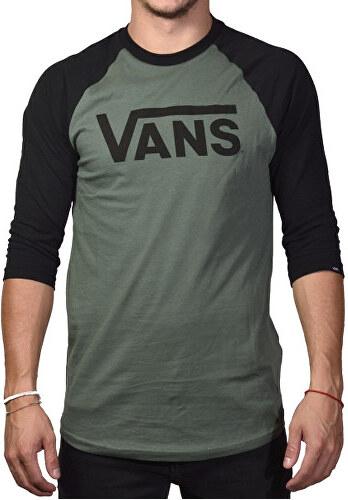 VANS Pánske tričko Vans Classic Raglan Dark Forest V002QQTHC - Glami.sk bee6a6bbf6