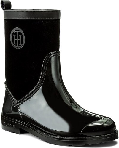 Holínky TOMMY HILFIGER - Oxford 8RW FW0FW01816 Black 990 - Glami.cz dfdb31d05b