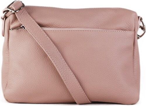 Italské kožené kabelky crossbody růžové Mariana - Glami.cz 196108263e2