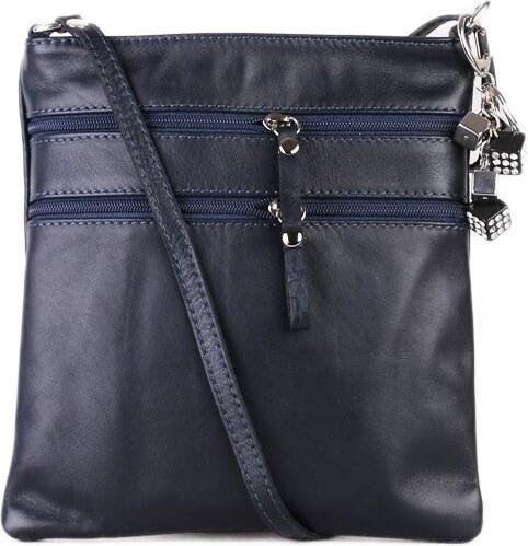 Kožené kabelky crossbody stredné Talianske modré Mariana e519e9dc218