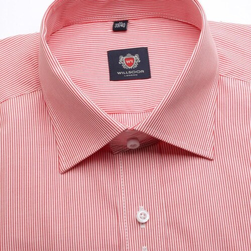 8be08e3efa9 -6% Willsoor Pánská slim fit košile WR London v růžové barvě s proužkem (výška  176-