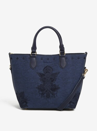 Tmavě modrá žíhaná kabelka do ruky crossbody kabelka Desigual Florida Soft  Mehndi 82036582b8f