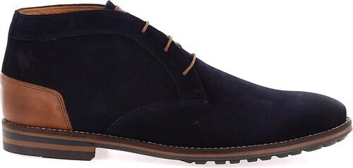 Kost Paris Desert Boots Jayat Bleu et cognac IGqrZ