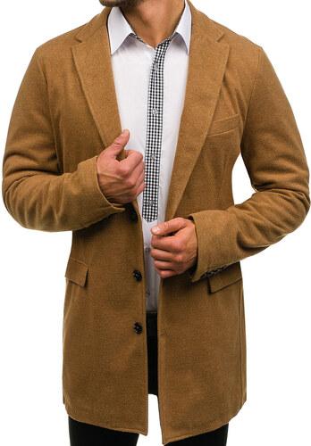 2996ef3a8330 Kamelový pánsky zimný kabát BOLF 1047 - Glami.sk