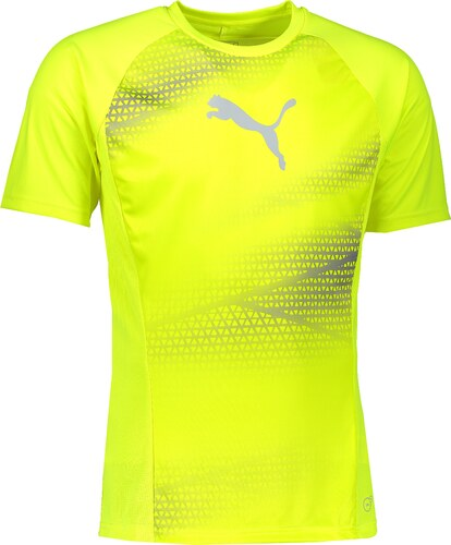Pánské funkční tričko PUMA EVOTRG GRAPHIC TEE 65533503 SAFETY YELLOW QUARRY 29693f6d5e